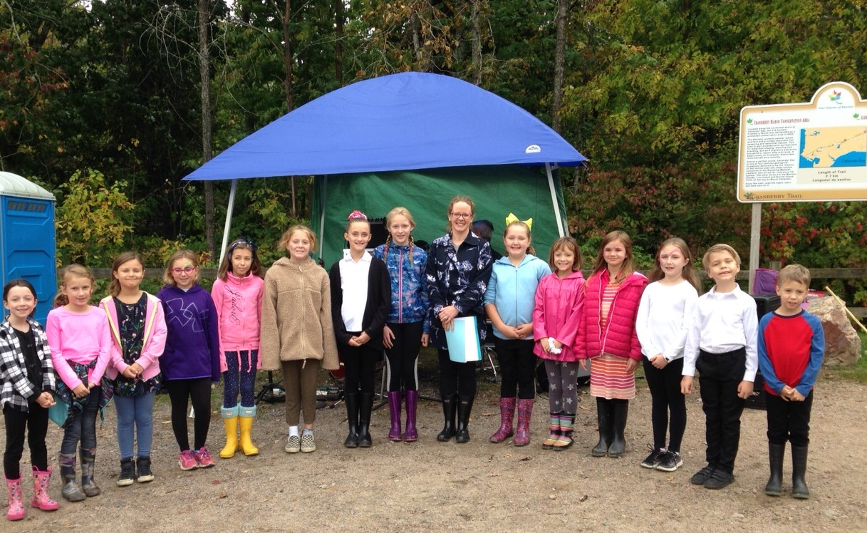 MT Davidson Public School Choir performed at Cranberry Day in Callander.