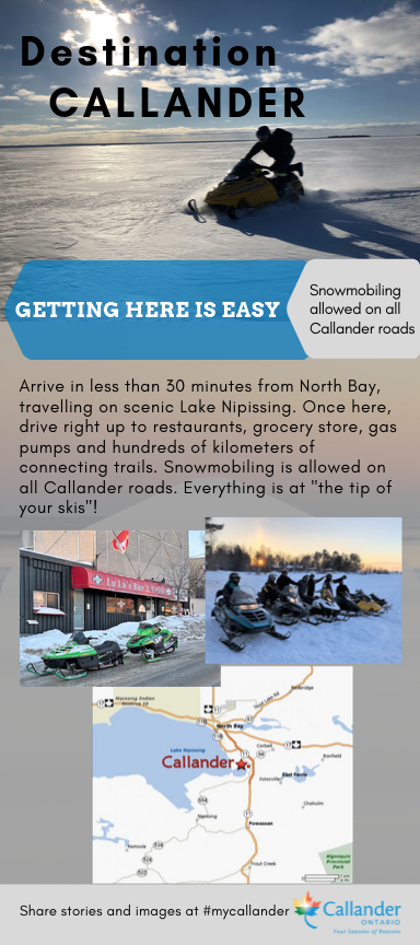 Snowmobiling in Callander