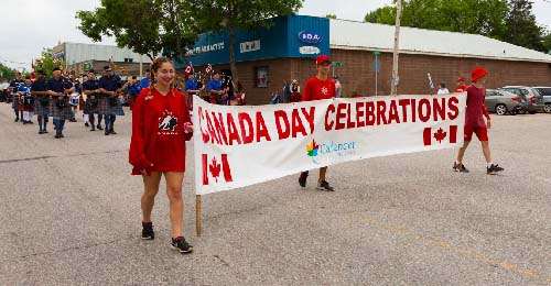 Callander's Canada Day celebrations during FunFest 2019: Canada Day parade