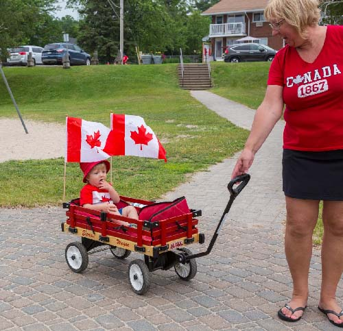 Celebrating Canada Day during FunFest 2019