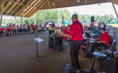 Celebrating Canada Day during FunFest 2019: Don & Friends band