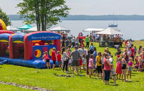 Celebrating Canada Day during FunFest 2019: Inflatable fun