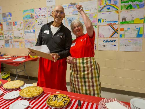 Celebrating Canada Day during FunFest 2019: Pie contest