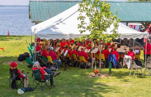 Celebrating Canada Day during FunFest 2019 with the JOY Band