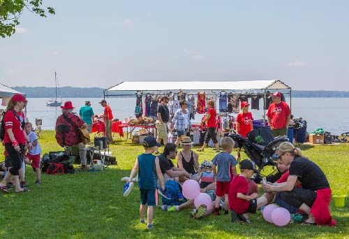 Celebrating Canada Day during FunFest 2019: Vendors at FunFest 2019