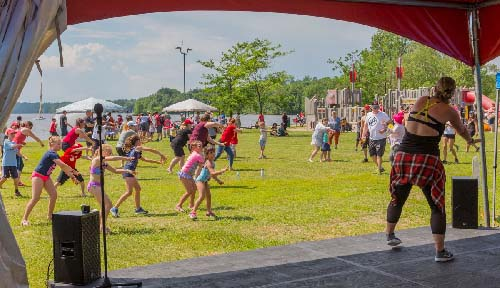 Celebrating Canada Day during FunFest 2019 with Zumba