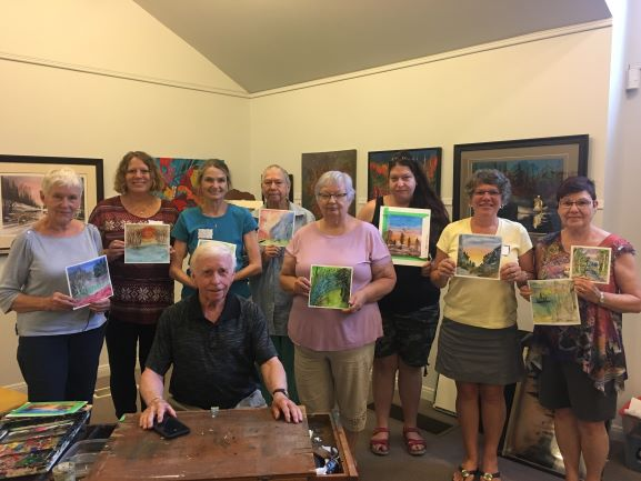 Group photo from the first paint workshop with Jack Lockhart