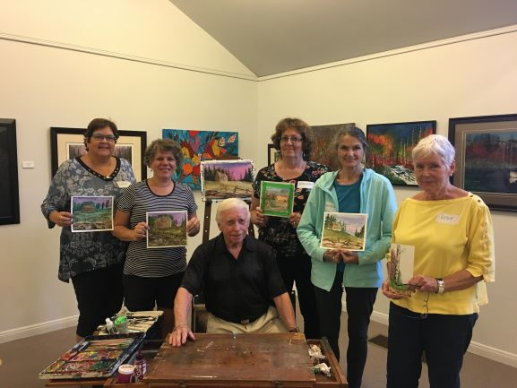 Photo of second group of painting workshop