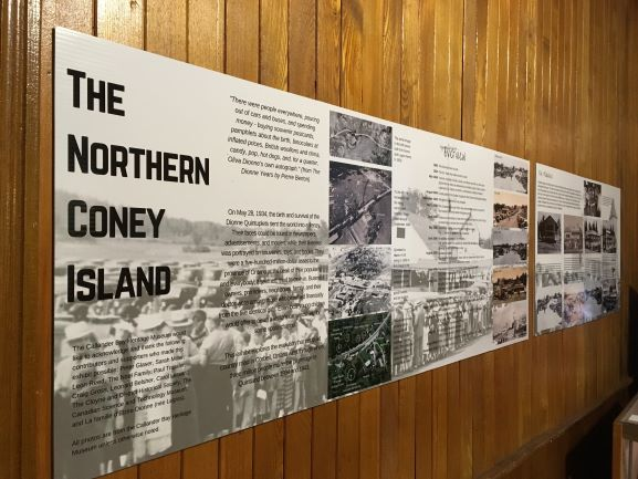 "Close up photo of the new display panel for the ""Northern Coney Island"" exhibit"
