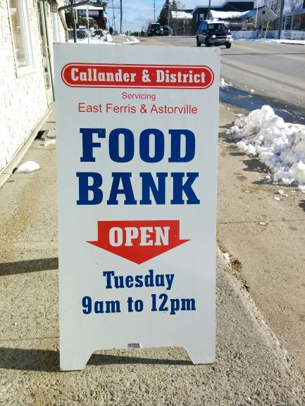 Callander and District Food Bank sign